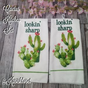 🐾5/$25🐾 Cactus Novelty Kitchen Towel Set New